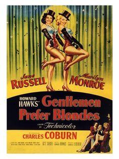 marilyn monroe movie posters | ... Prefer Blondes, Marilyn Monroe, Movie Poster 1953 (30x40cm Art Print