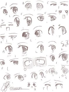31 ideas for drawing anime expression faces - chibi bases - . - 31 ideas for drawing anime expression faces – chibi bases – - Art Drawings Sketches Simple, Pencil Art Drawings, Cute Drawings, How To Draw Anime Eyes, Manga Eyes, Easy Anime Eyes, Girl Eyes Drawing, Anime Eyes Drawing, Male Drawing