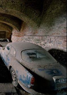 Abandoned....♠️ I'm sure this an Alfa Roemo Gulia Sprint +/- 1960's