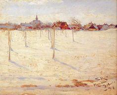 Art Renewal Center :: Peder Severin Kroyer :: Hornbaek en invierno
