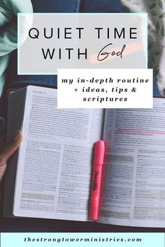 Quiet Time with God: My In-Depth Routine Ideas Tips and Scriptures - Jesus Quote - Christian Quote - Check books listed at end of post. atQuiet Time with God My In-Depth Routine Plus Ideas Tips And Scriptures Bible Study Plans, Bible Study Tips, Scripture Study, Bible Study Journal, Bible Verses Quotes, Encouragement Quotes, Bible Scriptures, Jesus Quotes, Bible Quotes For Women