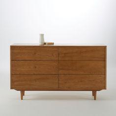 Soldes Commode La Redoute, achat Commode Vintage en chêne 6 tiroirs Quilda La Redoute Interieurs prix Soldes La Redoute 720.24 € TTC au lieu de 899 €