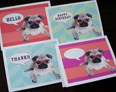 Do Pugs Need Glasses? by puggyprints on Etsy