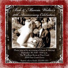 40th wedding anniversary photo ideas | 40th Wedding Anniversary Gift Ideas on Square Festive Ruby Anniversary ...