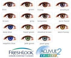 Color Contacts for Dark Eyes | How to Choose Coloured contact lenses