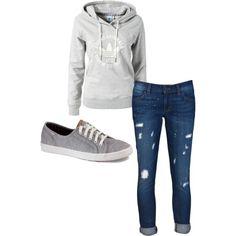 comfy shoes + comfy hoodie + comfy jeans