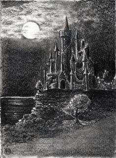Castle Ruins Graphite Drawing by Jayde Hilliard www.jaydehilliard.com