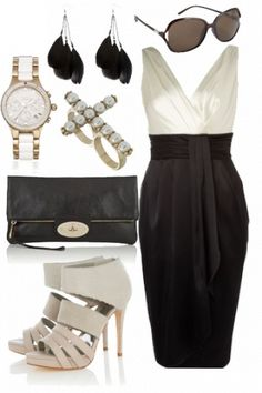 Monochrome Black & White Outfit - inspired by Karl Lagerfeld #style