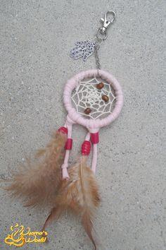 #keychain #dreamcatcher #pink #hamsa