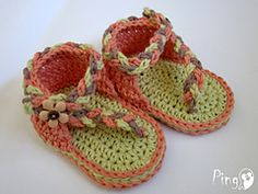 Ravelry: Baby Flip Flops Nell pattern by Pingo - The Pink Penguin