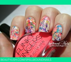Paint Splatter | Ashley P.'s (spellboundnails) Photo | Beautylish