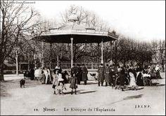 Le Kiosque à musique de l'Esplanade - Carte postale ancienne, collection privée.