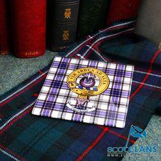 Clan Crest Glass Coa