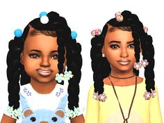 sims 4 cc // custom content child toddler hairstyle // // black simmer, african african, ethnic hair by Ebonix Sims 4 Toddler Clothes, Sims 4 Cc Kids Clothing, Sims 4 Mods Clothes, Sims Mods, Toddler Hair Bows, Girl Clothing, Toddler Outfits, Toddler Girls, Girl Outfits