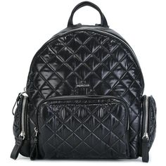 Moncler 'Florine' backpack (255 BHD) ❤ liked on Polyvore featuring bags, backpacks, black, quilted bags, day pack backpack, moncler, daypack bag and rucksack bags