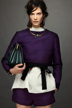 Marni - aubergine with just the right amount of everything for urban cool attire