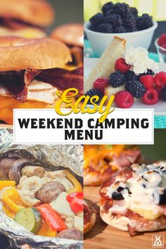 The experts at KOA have come up with a wholesome, easy menu for a weekend camping trip.