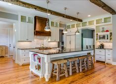 Kitchen Design. Kitchen Design Ideas. Kitchen stools are from a great little store in Fort Mill, SC - The Nest Furnishings. #Kitchen #KitchenDesign #FarmhouseDesign