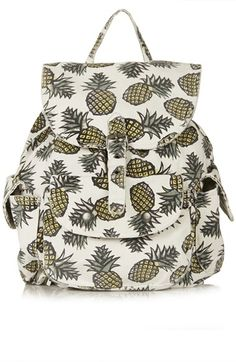 Topshop Pineapple Print Denim Backpack available at #Nordstrom