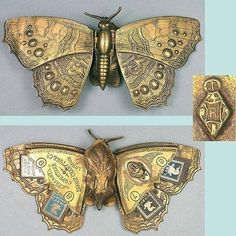 English Butterfly Needle Case c.1871~ No need to tell you why I love this :)