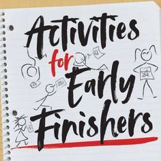 Ideas for Early Finishers in Art