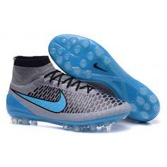 cheap for discount 073f2 6889b Billiga Nike Magista Obra FG - Grå Blå Fotbollsskor för män