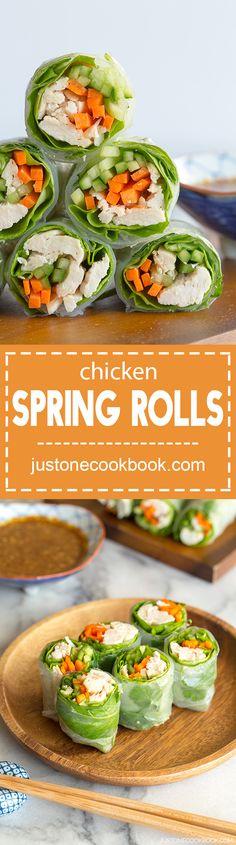 Chicken Spring Rolls (棒棒鶏の生春巻き)  |  Easy Japanese Recipes at JustOneCookbook.com