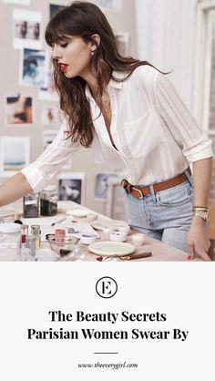 the beauty secrets parisian women swear by #parisian #beautytips #theeverygirl