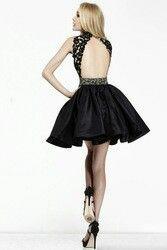 black lace open back flirty #wedding #mybigday http://i00.i.aliimg.com/wsphoto/v0/2045436484_2/2014-Charming-Sexy-Backless-Homecoming-Dress-Lace-Corset-High-Neck-Beads-Black-Satin-A-line-Sexy.jpg_250x250.jpg