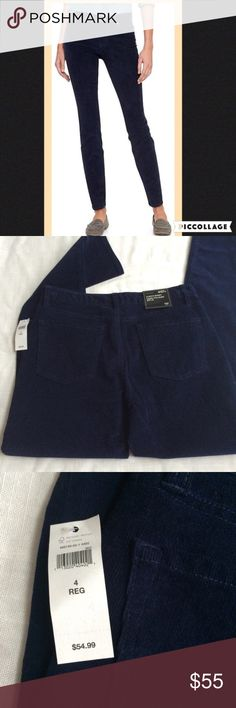 NWT Gap Navy Always Skinny Corduroy Pants Brand new with attached tags. Will not be priced lower. No offers please. GAP Pants Skinny