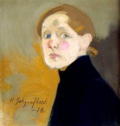 Zelfportret, Hélène Schjerfbeck, 1912