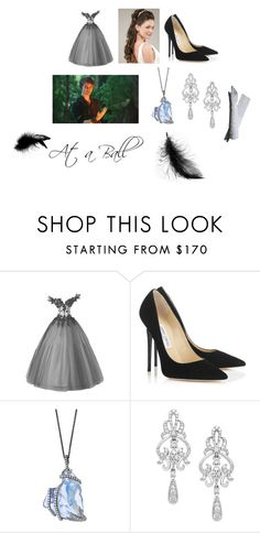 """At a Ball with Peter Pan ;)"" by christiana-samuel on Polyvore featuring Jimmy Choo, Once Upon a Time and Wrapped In Love"