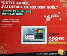 Offre Adhérents FNAC : pré-commande Galaxy Tab 2 10.1″ 32 Go blanc à moins de 330 euros, livraison offerte | Maxi Bons Plans
