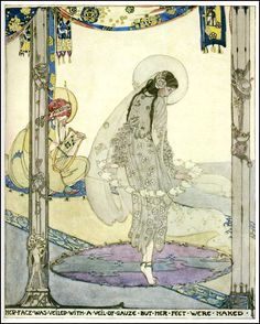 Jessie M. King illustration for Oscar Wilde's A House of Pomegranetes