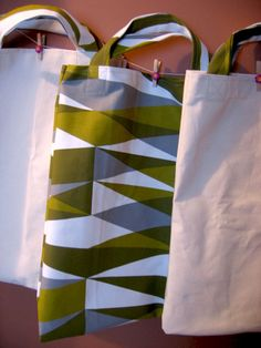 How to make fabric shopping bags