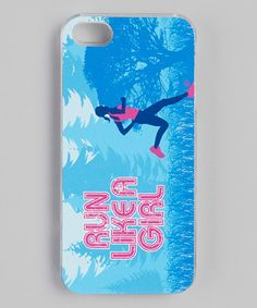 Blue 'Run Like a Girl' iPhone Case by Gone for a Run on #zulily