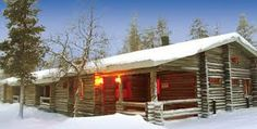 Book this Beautiful Log Cain in Saariselka with thedreamtravelgroup.co.uk/lapland-trips