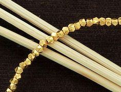 75 of Karen hill tribe 24K Gold Vermeil Style Faceted by bymitena