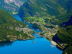Vaksdal: The village of Stanghelle in the Veafjord, Hordaland, Norway