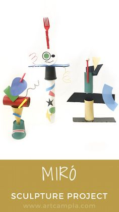 Painting videos for kids figure out how to draw, paint and craft in a fun video Sculpture Projects, Art Sculpture, Recycled Art Projects, Projects For Kids, Kids Crafts, Classe D'art, Recycling For Kids, Art Lessons Elementary, Preschool Art