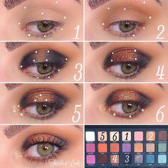 Born to Run Eyeshadow Palette Base 2 - Makeup Products Design Makeup Blog, Makeup Art, Beauty Makeup, Makeup Geek Eyeshadow Palette, Smokey Eye For Brown Eyes, Smoky Eye, Born To Run, Makeup Designs, Makeup Goals