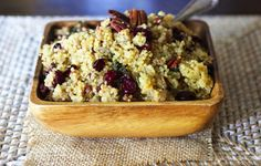 Cranberry Pecan Quinoa...perfect gluten free side dish for Christmas day!