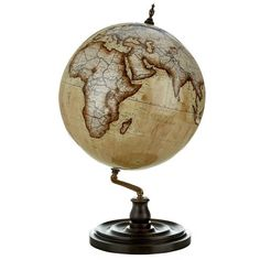 Bellerby Livingstone Globe (780 KWD) ❤ liked on Polyvore featuring home, home decor, decor, filler, accessories, furniture and map globe