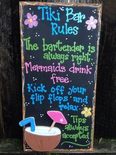 Backyard bar signs tiki hut 26 Ideas for 2019 Yard Party, Tiki Party, Luau Party, Beach Party, Beach Pool, Luau Theme, Tiki Bar Signs, Tiki Bar Decor, Pool Signs