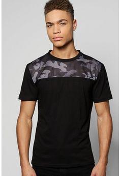 Camo Mesh Yoke T-Shirt