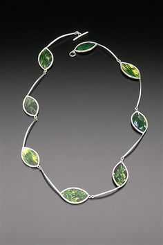 Sarah Hood Jewelry - Delhi: Summer 2000 sterling silver, photographs of leaves