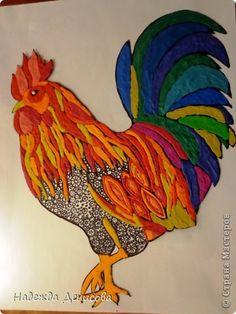 La pintura mural de aplicación de dibujo Taller de plastilina + marcha atrás Hermosa foto del pájaro de plastilina 23