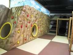 Traversing Wall - #Indoor #Playground This would be an awesome garage play area