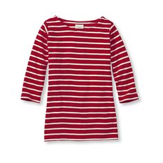 French Sailor's Shirt, Three-Quarter-Sleeve Boatneck ($25) ❤ liked on Polyvore featuring tops, t-shirts, boatneck, 3/4 sleeve shirts, three quarter sleeve shirts, 3/4 length sleeve t shirts, boatneck t shirt and sailor shirt