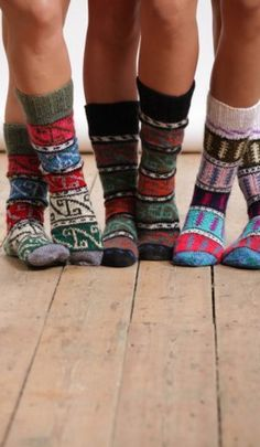 Winter Print Socks.